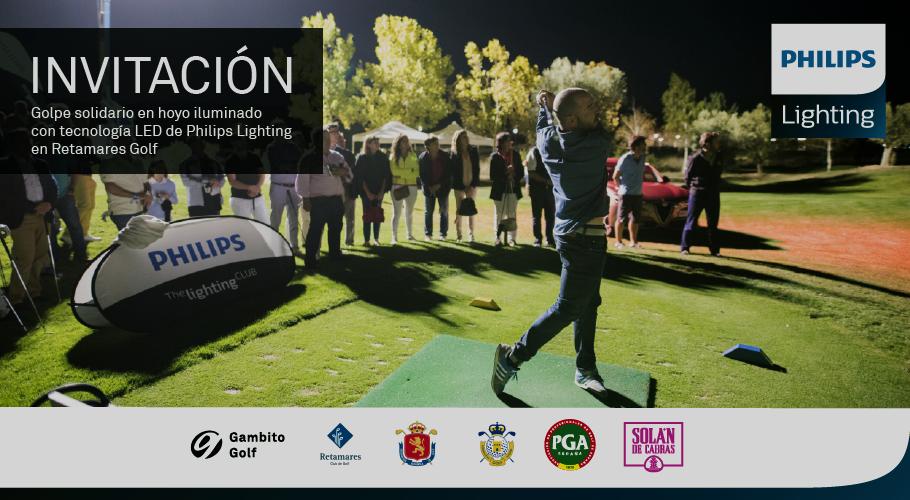 Philips Lighting le invita a dar el golpe solidario en el hoyo iluminado con tecnología LED en Golf Retamares
