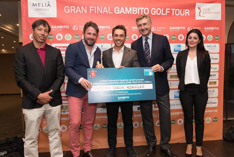 El madrileño Sebastián García Rodríguez, merecido campeón del Orden de Mérito del Gambito Golf Tour 2017