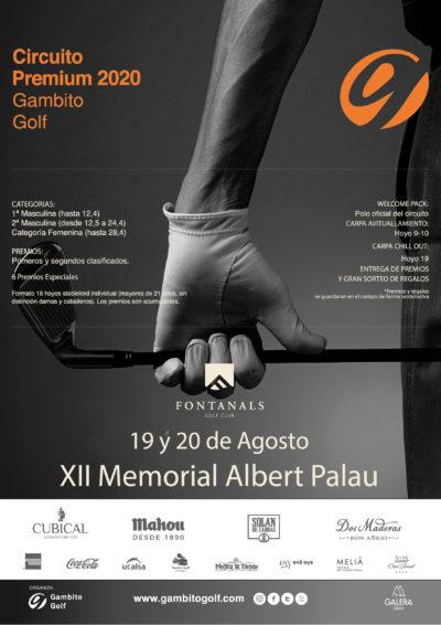 CIRCUITO PREMIUM 2020- FONTANALS GOLF-XII MEMORIAL ALBERT PALAU