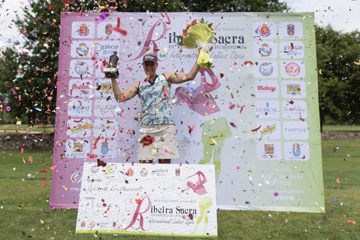 Triunfo aplastante de la sueca Johanna Gustavsson en la ronda final del VI Ribeira Sacra Internacional Ladies Open