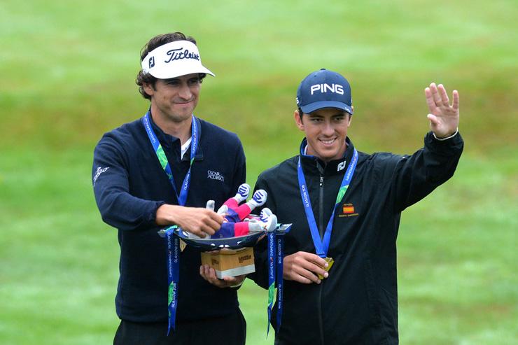 España, con Scott Fernández y Pedro Oriol, medalla de oro en el Europeo por Equipos de golf