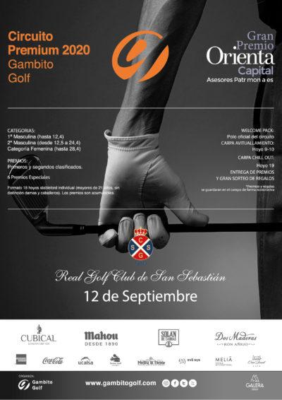 CIRCUITO PREMIUM 2020 - GRAN PREMIO ORIENTA CAPITAL- REAL CLUB DE GOLF DE SAN SEBASTIAN