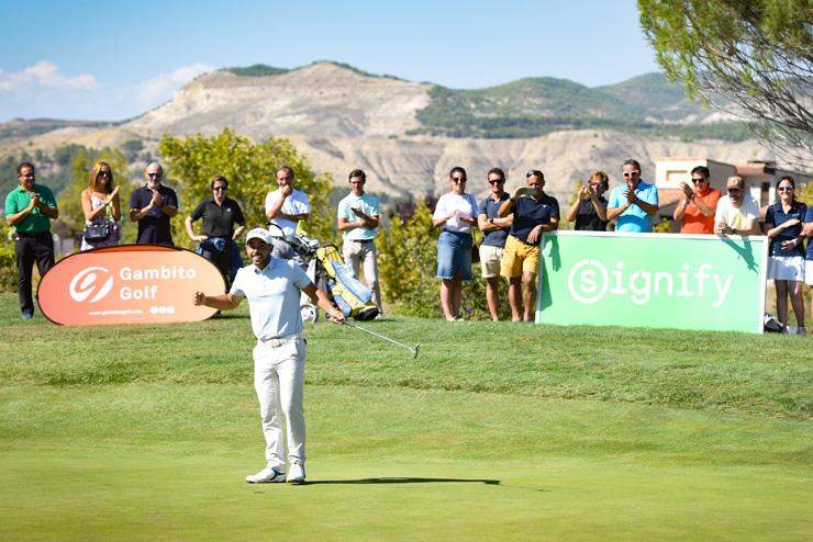 Augusta Golf Calatayud concluye el Signify Campeonato de España de Profesionales Masculino 2018 repitiendo ganador, Sebastián García