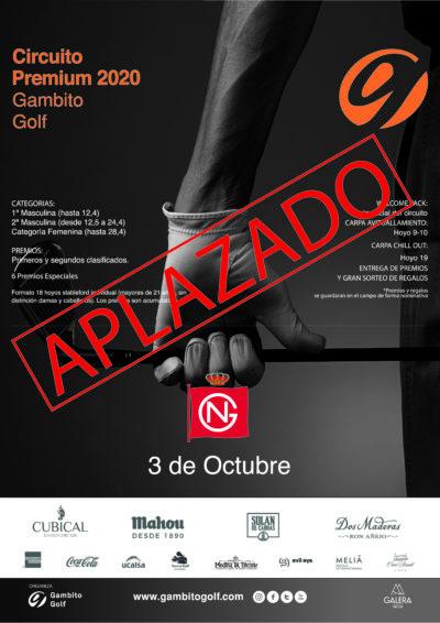 APLAZADO- CIRCUITO PREMIUM 2020- REAL SOCIEDAD DE GOLF DE NEGURI
