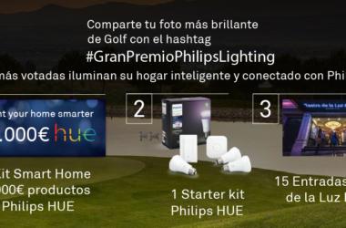 Comparte tu momento más brillante de golf con el hashtag #GranPremioPhilipsLighting e ilumina tu hogar inteligente con Philips HUE