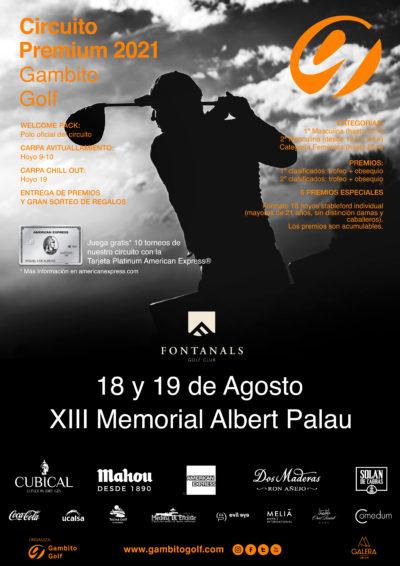CIRCUITO PREMIUM 2021- FONTANALS GOLF-XIII MEMORIAL ALBERT PALAU