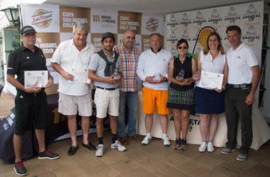 Los premios y el catering de la I Copa de Golf San Miguel complacen a los golfistas de Añoreta Golf