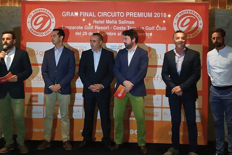 Recepción en Meliá Salinas y la Gran Final del Circuito Premium 2018 en marcha en Lanzarote