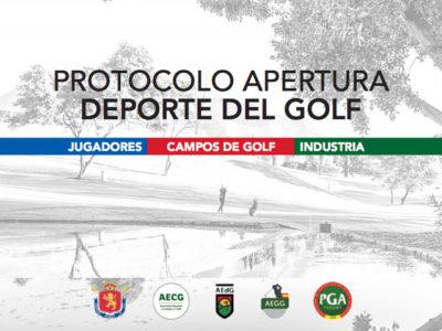 El conjunto de instituciones del golf español presenta el Protocolo de Apertura del Deporte del Golf